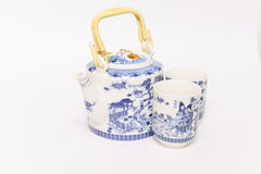 Chinese Teapot set. This is white teapot set design  Chinese style Royalty Free Stock Photo