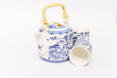 Chinese Teapot set. This is white teapot set design  Chinese style Stock Photos