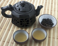 Chinese teapot setting Stock Photos