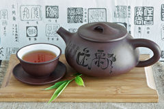 Chinese teapot and tea Stock Photo