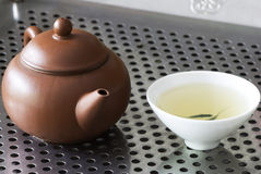 Chinese teapot and tea Royalty Free Stock Image