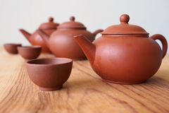 Chinese teapot and teacup Royalty Free Stock Photo