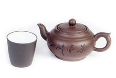 Chinese teapot with teacup Stock Image