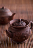 Chinese teapot and teacups Royalty Free Stock Image