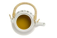 Chinese teapot top view Royalty Free Stock Photo