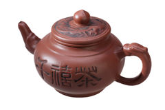 Chinese teapot on a white background Stock Photo