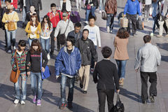 Chinese teenagers. On October 14, 2012 in Dalian. China has about 300 million adults under age 30, a demographic cohort that bridges Mao's closed China and Stock Photo