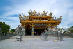 Chinese tempel in Bukit Mertajam, Maleisië stock afbeeldingen