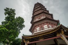 Chinese tempel in Guangzhou stock afbeelding