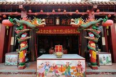 Chinese tempel in Melaka maleisië stock afbeeldingen