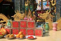 Chinese tempel, Rangsit, Bangkok, Thailand. Stock Afbeeldingen