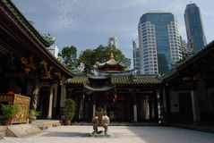 Chinese Tempel in Singapore Stock Afbeelding