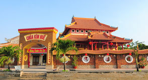 Chinese tempel in Vietnam stock foto's