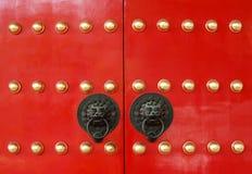 Chinese tempeldeur Stock Afbeeldingen