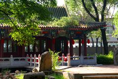 Chinese temple. Manor of the Chinese emperor. East China Royalty Free Stock Photography