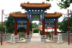 Chinese temple. An entrance to chinese temple Stock Image