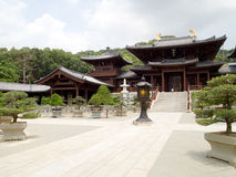 Chinese Temple. Of Chi Lin Nunnery and Chinese garden, Hong Kong Stock Photo