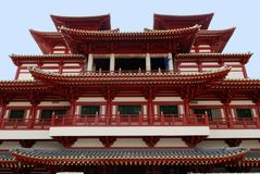 Chinese temple. In the city royalty free stock image