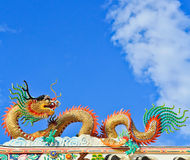 Chinese temple. Dragon in Roof Chinese temple Stock Images