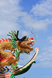 Chinese temple. Dragon in Roof Chinese temple Royalty Free Stock Image