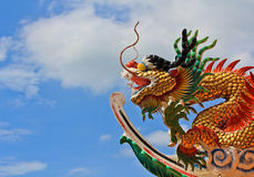 Chinese temple. Dragon in Roof Chinese temple Stock Image
