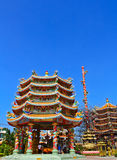 Chinese temple. A part of roof at Chinese temple in Thailand Stock Image