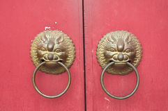Chinese temple. Close up photo of chinese temple door stock photography