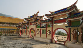 Chinese temple. With arch doorways, Penang Malaysia Royalty Free Stock Images