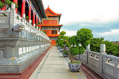 Chinese Temple. A Chinese temple built with marble Royalty Free Stock Photo