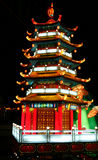 Chinese temple. At chinese lantern festival celebrating new years Stock Image