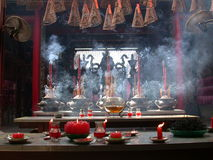 Chinese temple. Incense burning in a Chinese temple, Ho Chi Minh City, Vietnam Royalty Free Stock Image