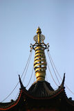Chinese temple. Peak of Chinese temple tower Stock Image
