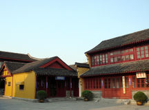 Chinese temple. Exterior of a Chinese temple Royalty Free Stock Image