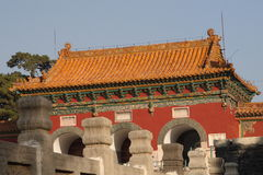 Chinese temple. Chinese old temple under clear blue sky Stock Images