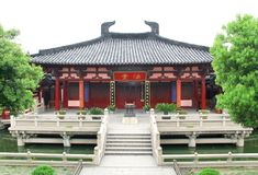 Chinese Temple. This Buddhism temple is Fatang at Hanshan Temple in Suzhou, China Royalty Free Stock Photo