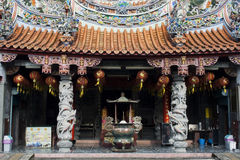 Chinese temple. A typical Chinese temple in Taiwan Stock Photo