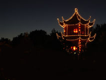 Chinese temple. In the night Royalty Free Stock Photography