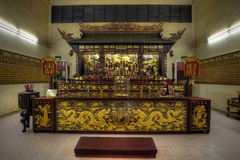 Chinese Temple Altar of Gods. Chinese Taoist Temple Altar of the Many Gods Royalty Free Stock Images