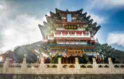 Chinese temple. Ancient chinese temble in zhangjiajie mountains Royalty Free Stock Photography