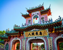 Chinese Temple. Another colourful Chinese temple at Hanoi city in Vietnam royalty free stock photography