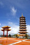 Chinese Temple Arch and Pagoda. Image of a Chinese temple arch and pagoda in Malaysia Royalty Free Stock Photography