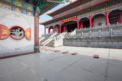 Chinese temple architecture Royalty Free Stock Photos