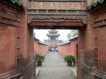 Chinese temple architecture Stock Image