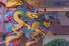 Chinese temple art in Ang Sila, Chonburi, Thailand also known as royalty free stock images