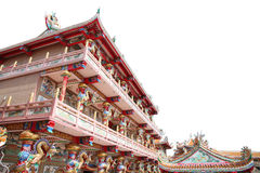 Chinese temple in art sculpture for interior background. Stock Photo