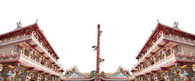 Chinese temple in art sculpture for interior background. Stock Image
