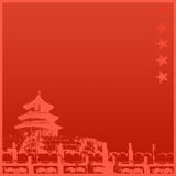 Chinese Temple Background stock illustration