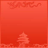 Chinese Temple Background stock photo