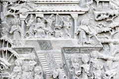Chinese Temple Bass-Relief. Old chinese temple bass-relief Royalty Free Stock Photo