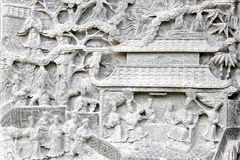 Chinese Temple Bass-Relief. Old chinese temple bass-relief Royalty Free Stock Photography